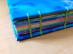Blue Coptic Stitch Journal