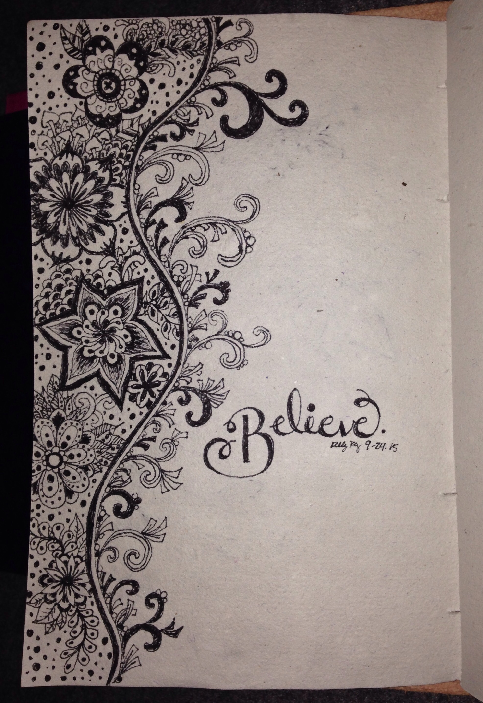 believe, zentangle