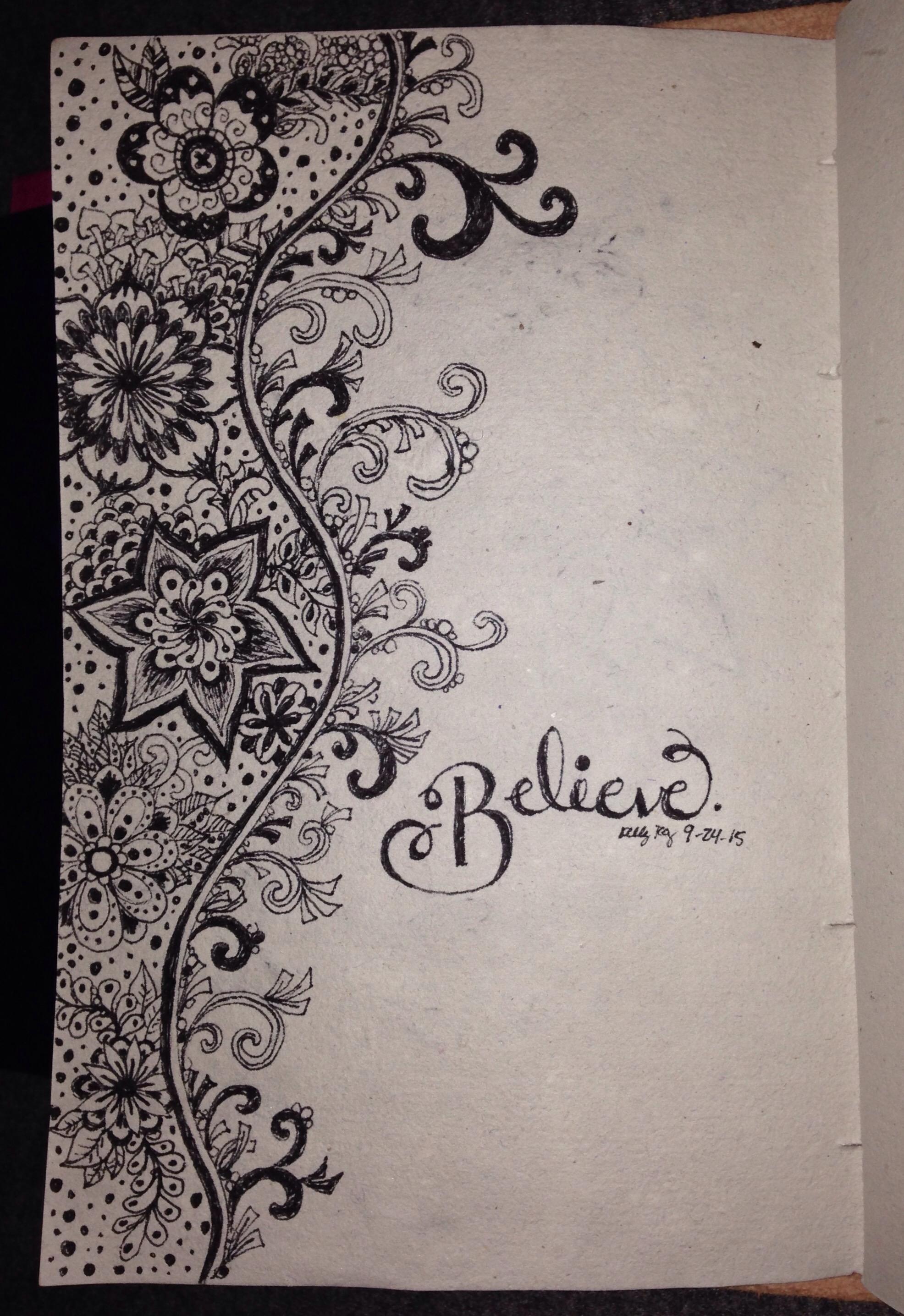 believe, zentangle