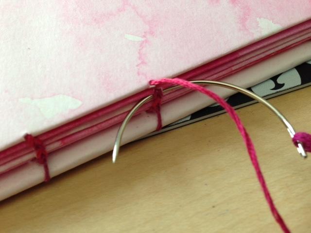 curved needle coptic stitch