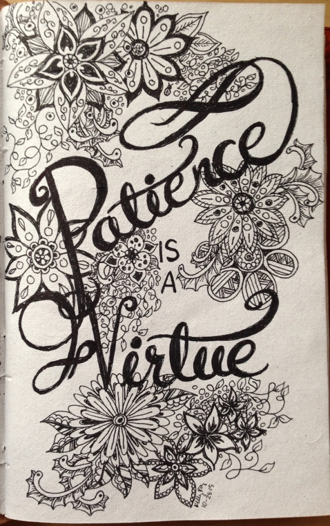 #inktober, zentangle, patience is a virtue