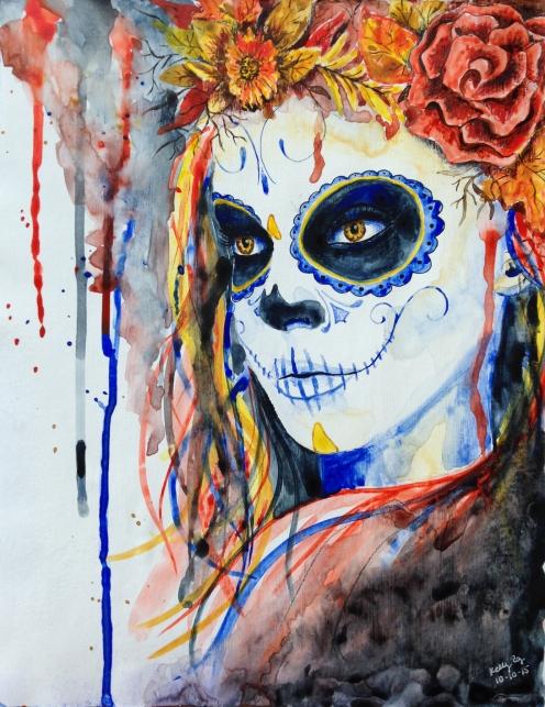 #lovefallart, sugar skull