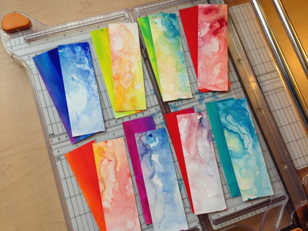 Watercolor bookmarks - Bookmarks 4