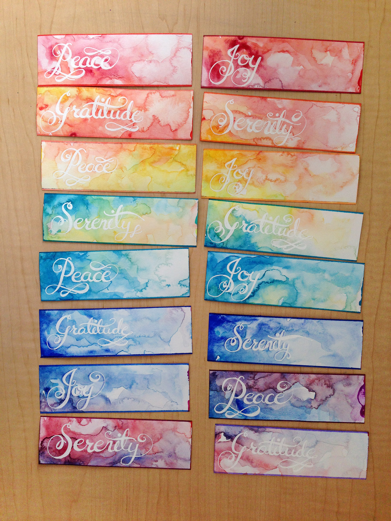 Watercolor bookmark gifts odyssey art for Watercolor painting templates free