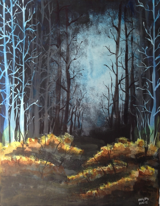 #nanojoumo2015, painting, forest