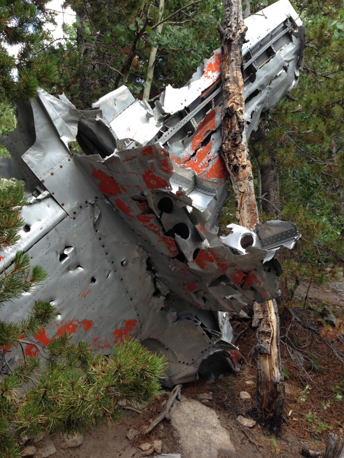 August 2016 T33 Crash Site. (Very sad story. It's amazing they left the plane debris there, but it's a good way to get some honor and notoriety to the service men who lost their lives in the crash so long ago.)